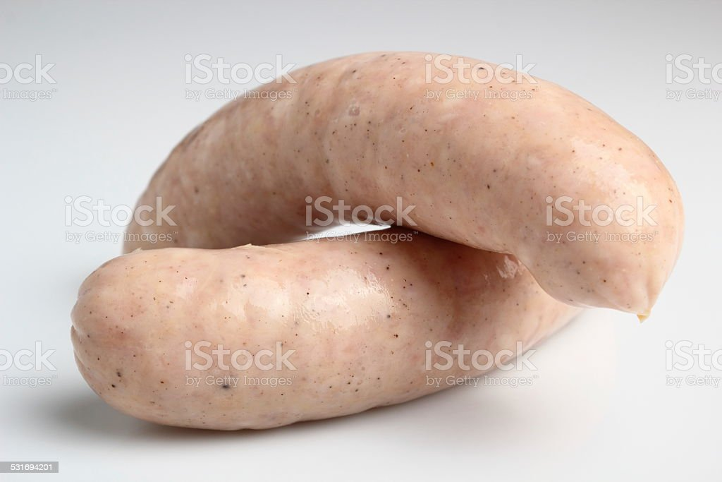 White sausage stock photo