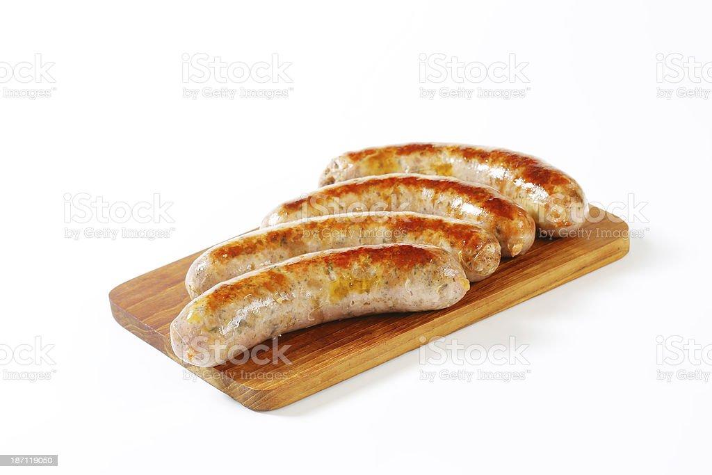 white sausages bildbanksfoto