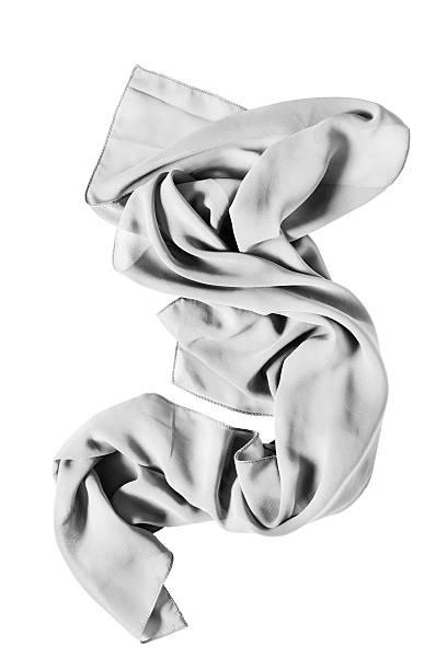 white scarf isolated - lenço do pescoço imagens e fotografias de stock