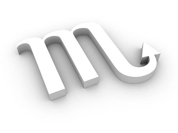 White scorpio symbol stock photo