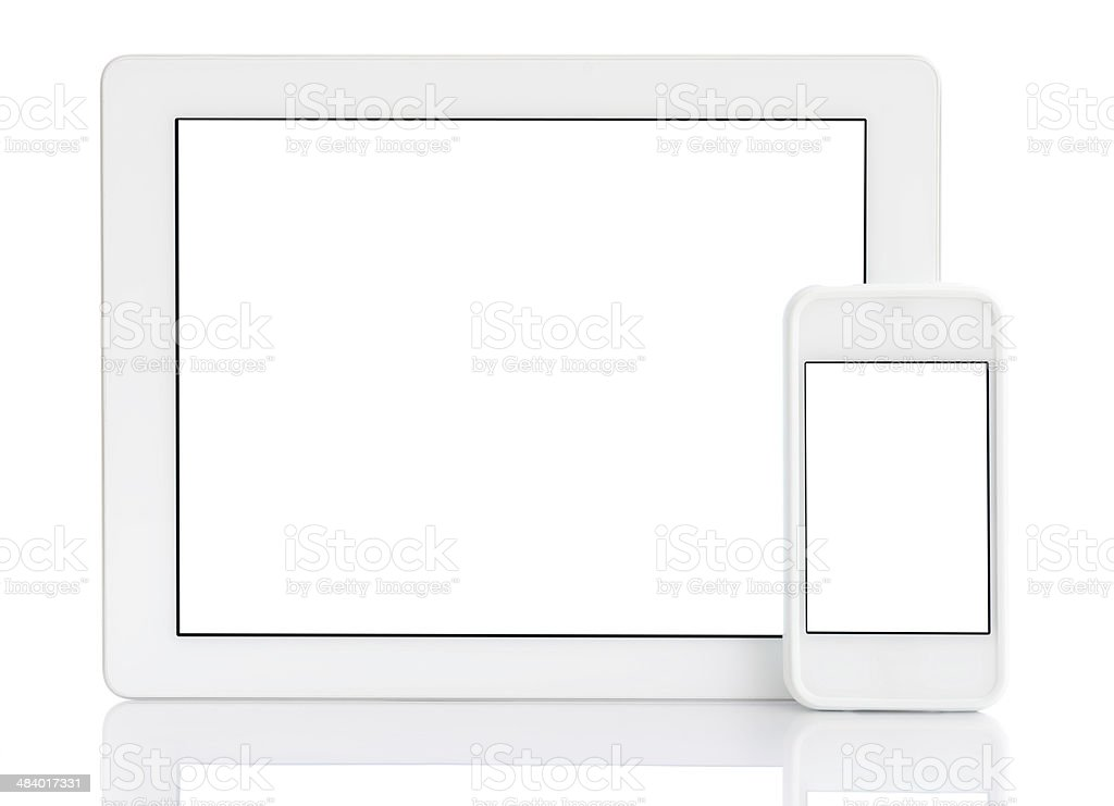 White screen tablet pc & smart phone royalty-free stock photo