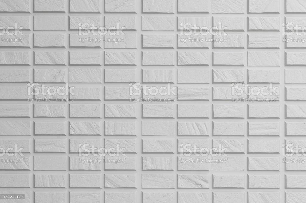 Witte naadloze bakstenen muur textuur achtergrond - Royalty-free Architectuur Stockfoto