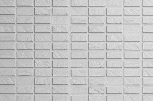 Witte Naadloze Bakstenen Muur Textuur Achtergrond Stockfoto en meer beelden van Architectuur