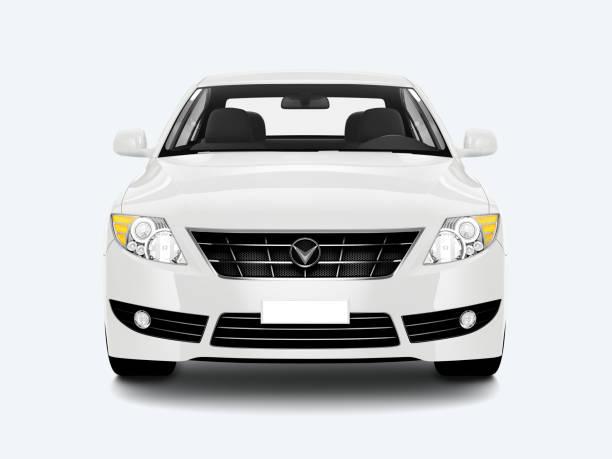 흰색 세 단 자동차 - 전경 뉴스 사진 이미지