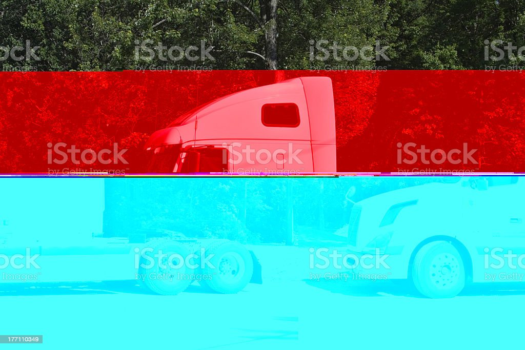 White Semi stock photo