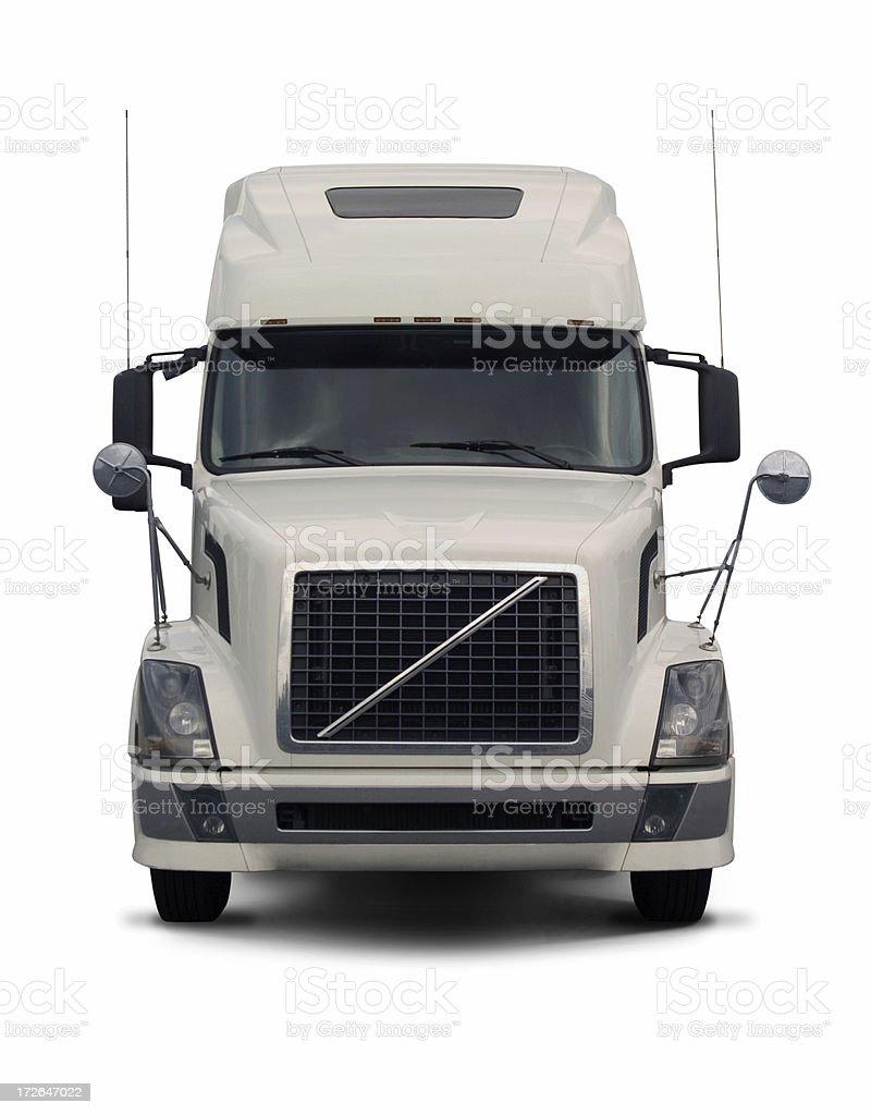 white semi truck  2 royalty-free stock photo