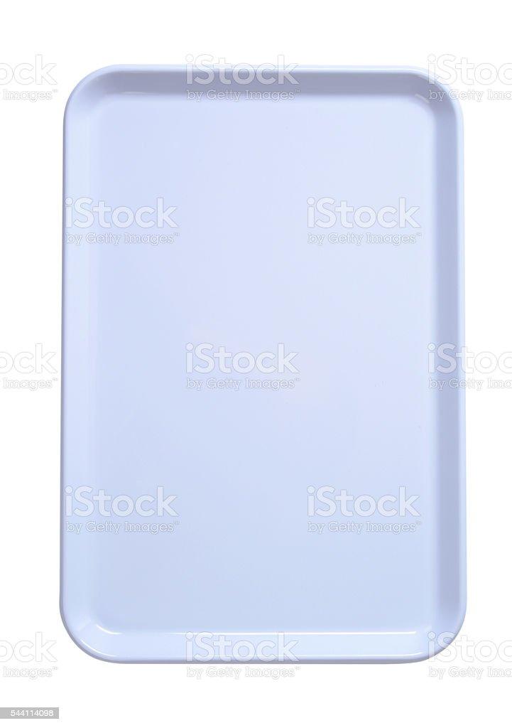 white serving tray stock photo