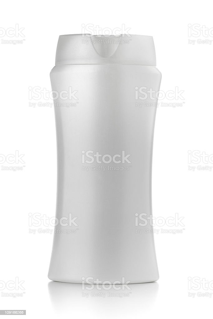 White shampoo bottle royalty-free stock photo