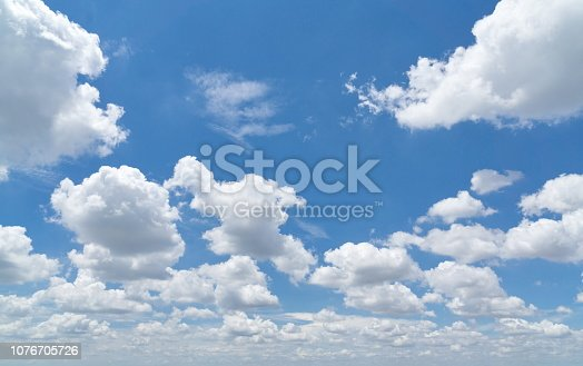 Blue sly with clouds for background template