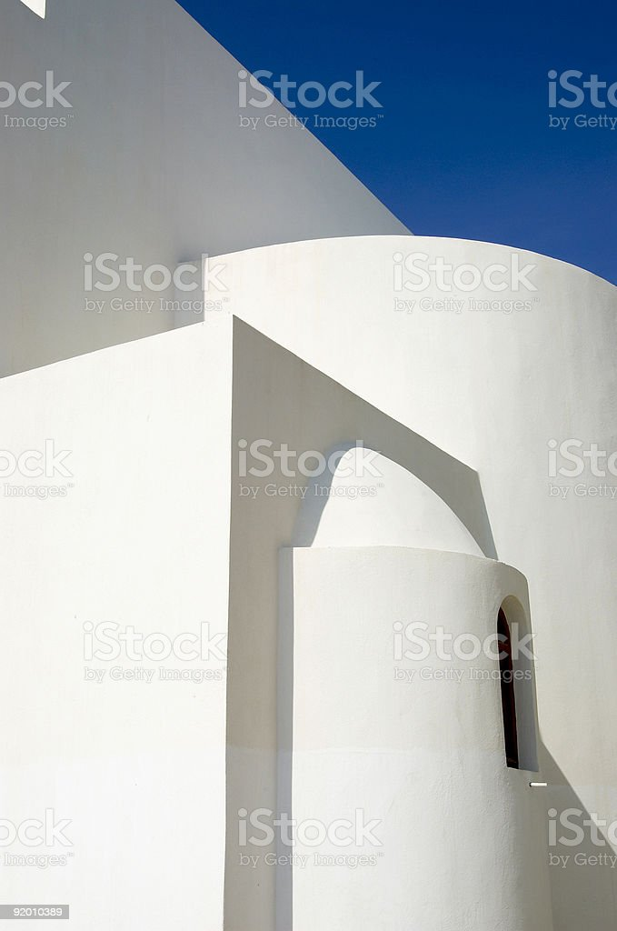 White Shapes royalty-free stock photo