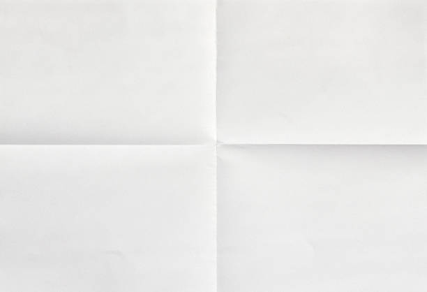 white sheet of paper in four - folded stock photos and pictures