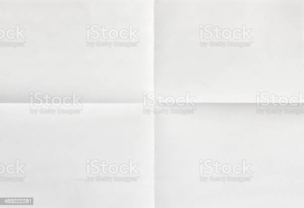 Photo of White sheet of paper in four
