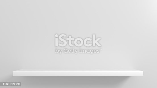istock White shelves for goods showcase 1166218056