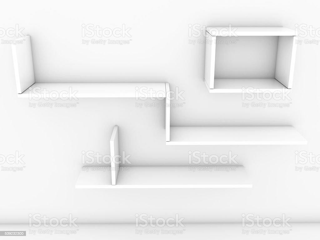 Blanco estantes foto de stock libre de derechos