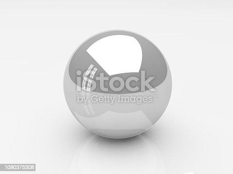 white shiny ball