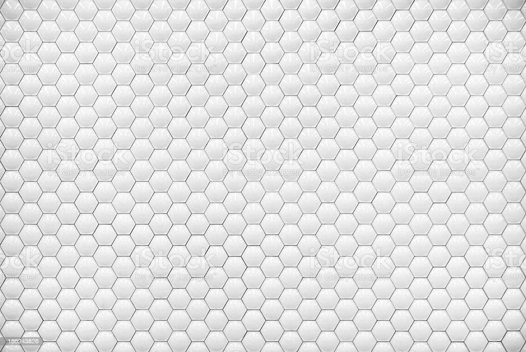 wei gl nzend sechseckblase fliesen textur hintergrund. Black Bedroom Furniture Sets. Home Design Ideas