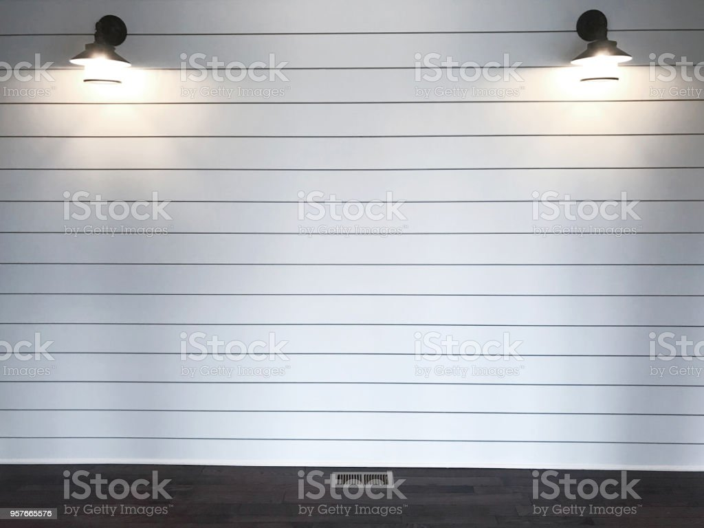 White Shiplap Background Stock Photo - Download Image Now - iStock