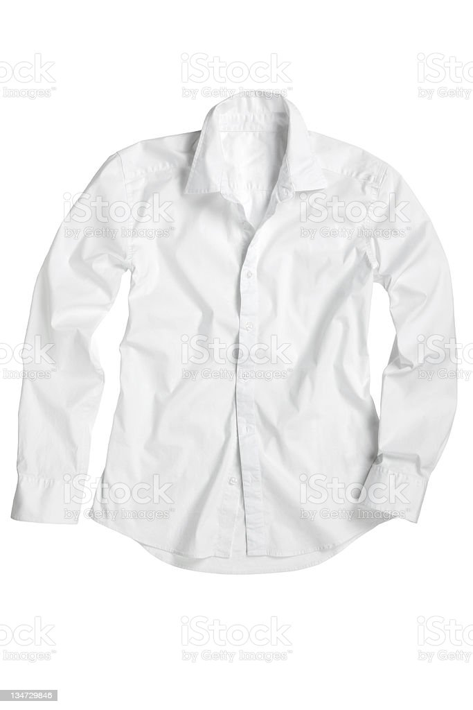 white shirt clipping path royalty-free stock photo