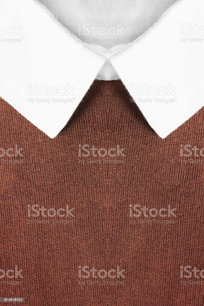 White shirt collar stock photo