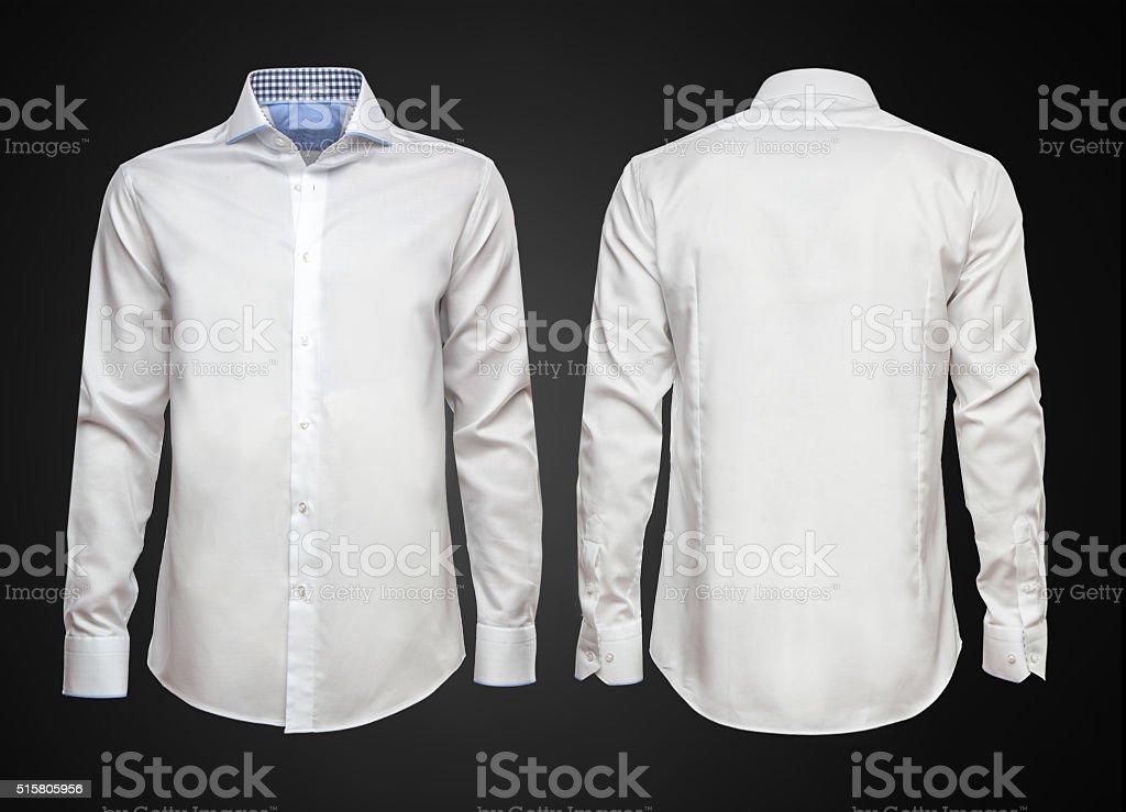 White shirt on dark background. Businessman clothes royalty-free stock photo