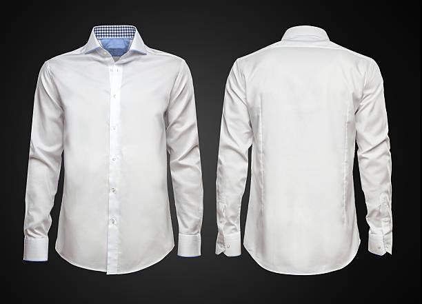 camisa branca em fundo escuro. empresário roupas - camisa - fotografias e filmes do acervo