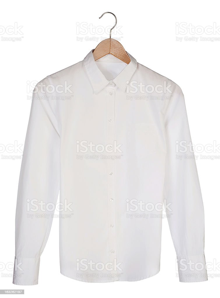 White shirts are trends in any wardrobe stock photo