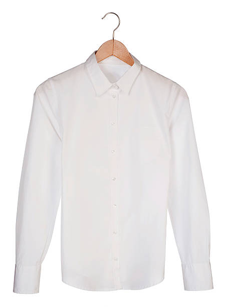 ホワイトのシャツ - 襟付きシャツ ストックフォトと画像