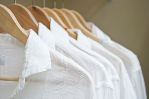 White Shirts In Closet Stock Photo - Download Image Now