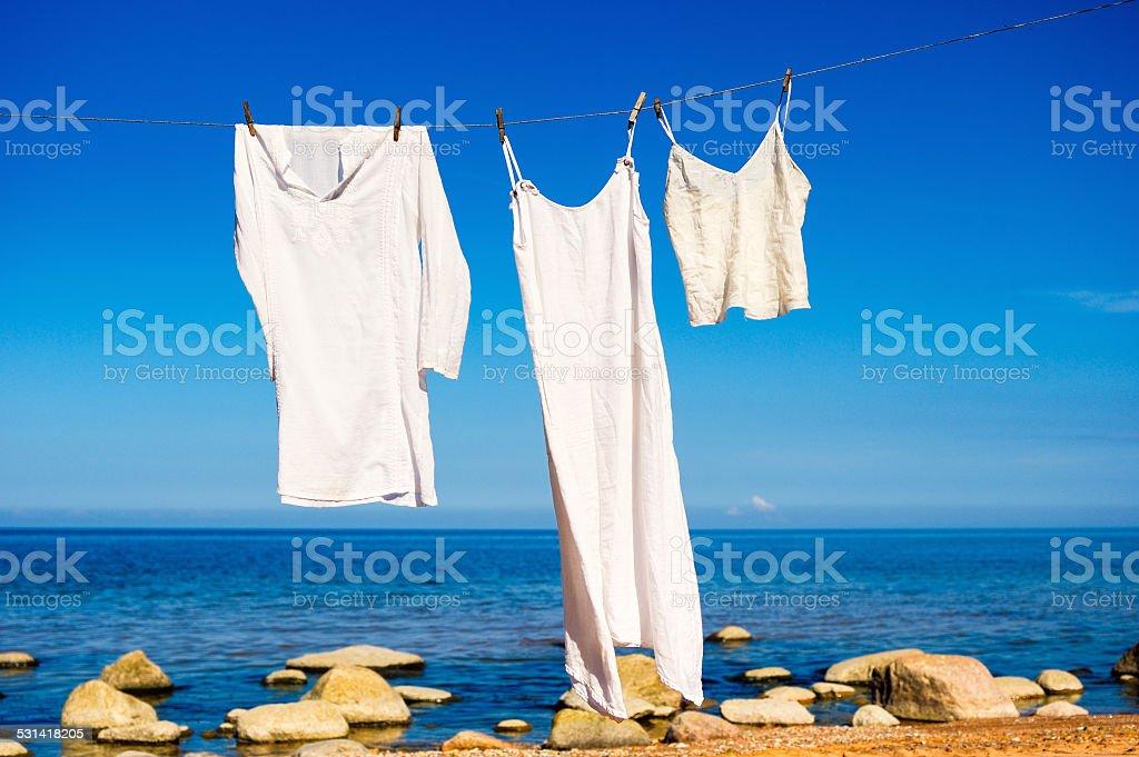 Weiße shirts – Foto
