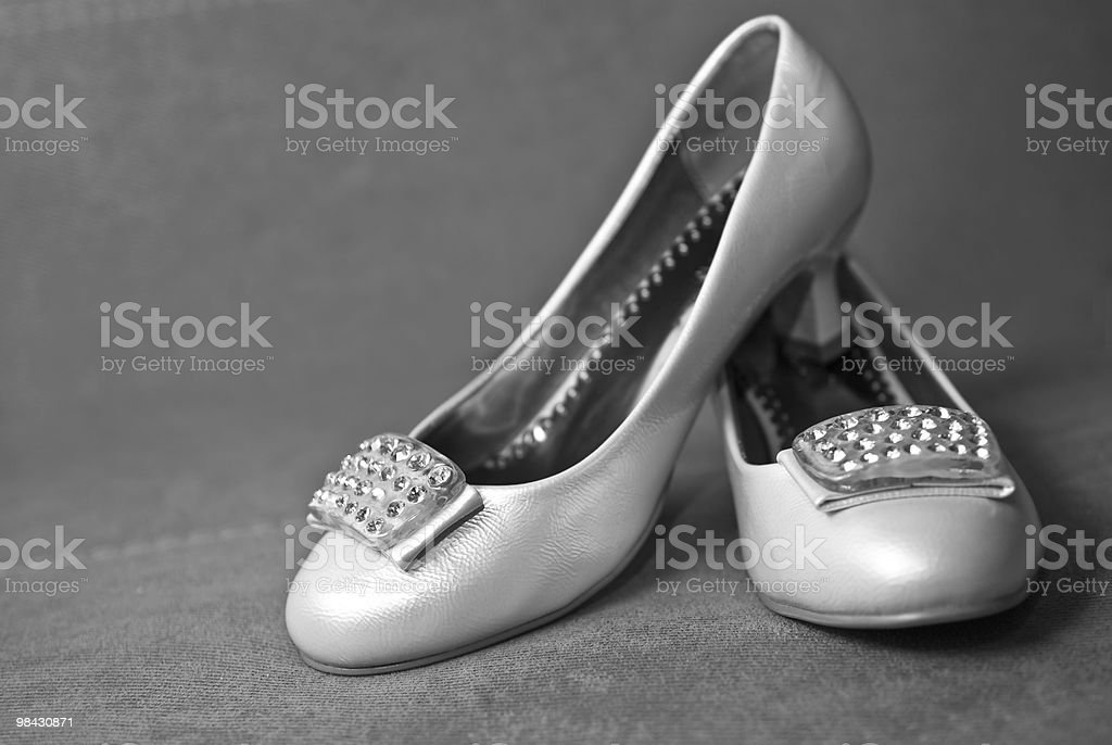 white shoe of the bride royalty-free stock photo