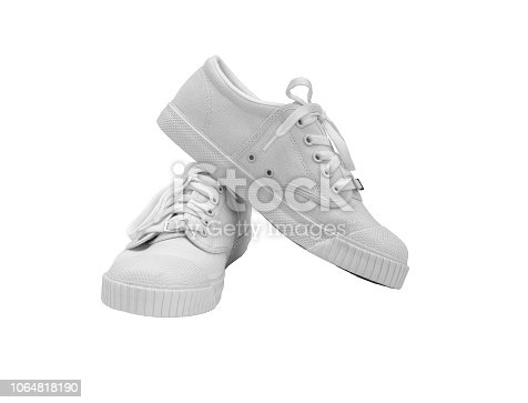 White Shoes isolated on white background.