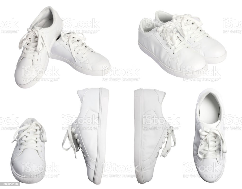 White shoes stock photo