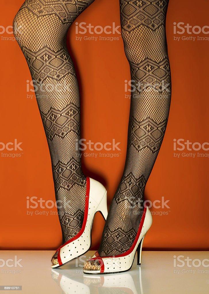 Weiße Schuh Lizenzfreies stock-foto