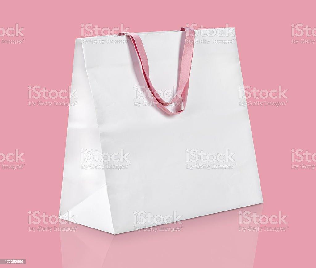 White shopping bag. stock photo
