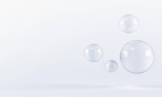 パール ホワイトの shpere の背景。3 d のレンダリング - 透明 ストックフォトと画像