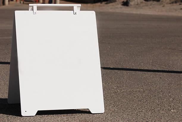 White Sign Board stock photo