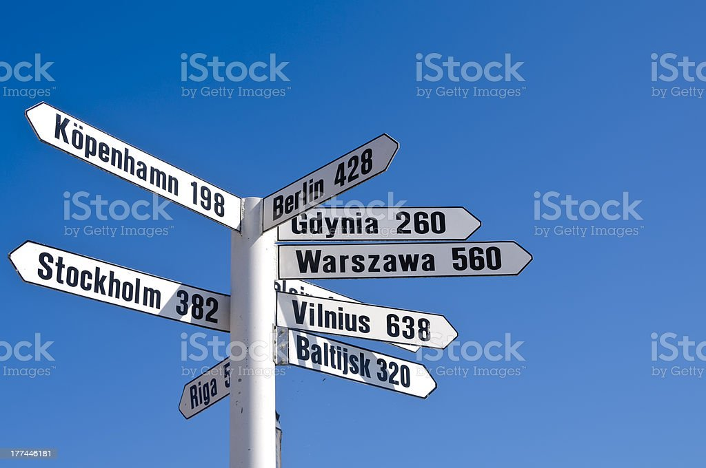 White signpost royalty-free stock photo