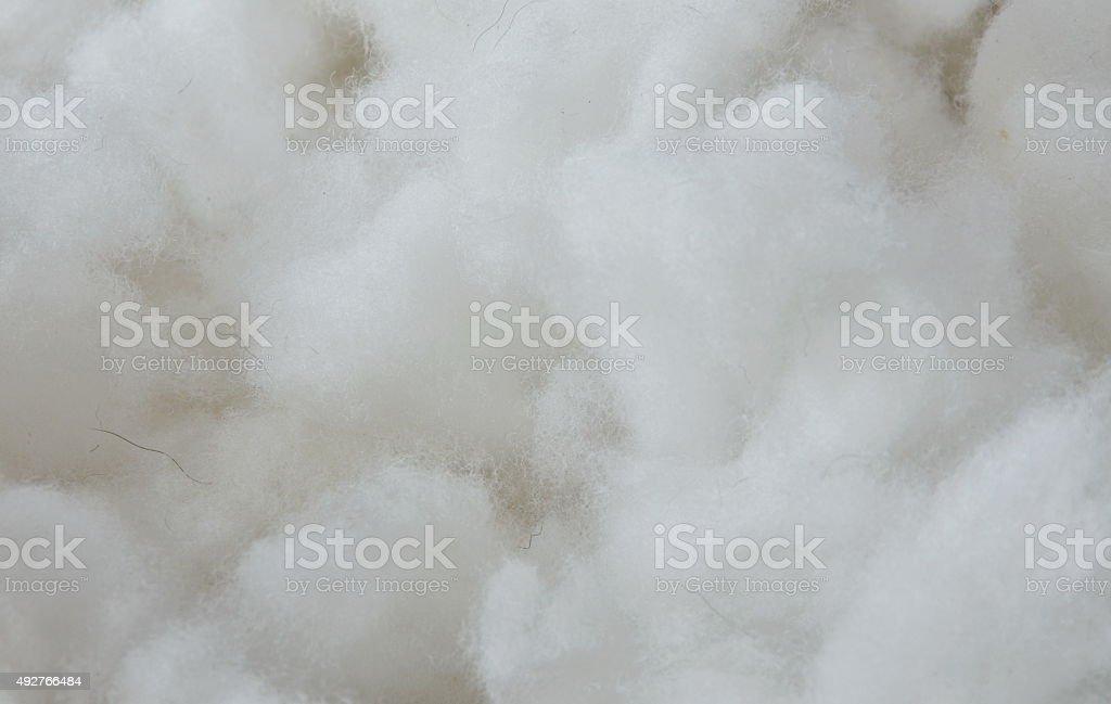 white silk cotton pillow stock photo