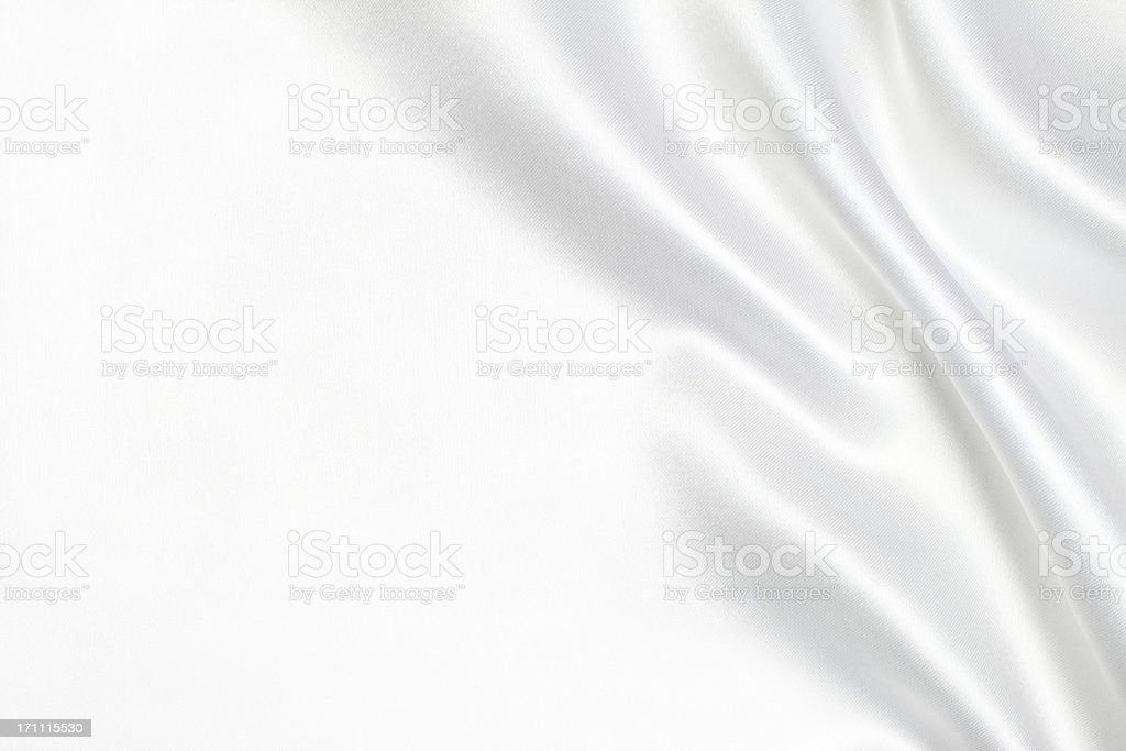 White silk fabric background stock photo