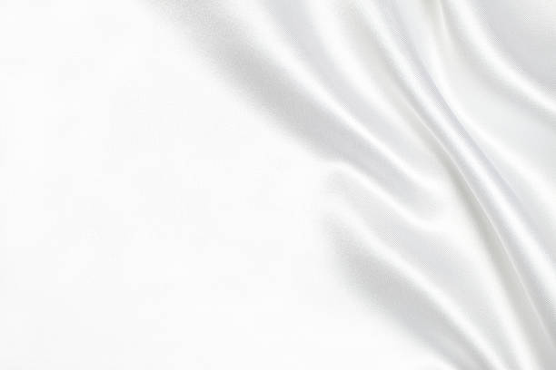 white silk fabric background - textile stock photos and pictures