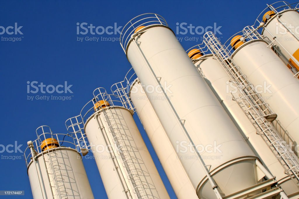 White silos # 2 stock photo