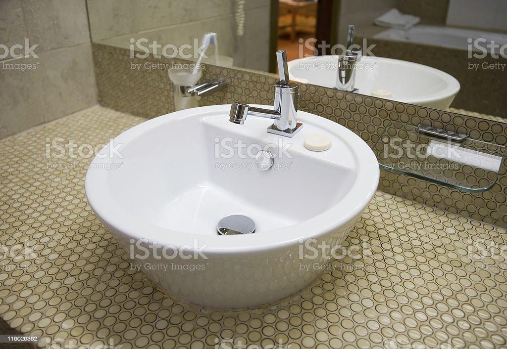 White sink 1 royalty-free stock photo