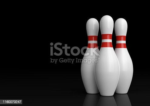 White skittles isolated on black background. Minimal creative concept. 3D rendering illustration