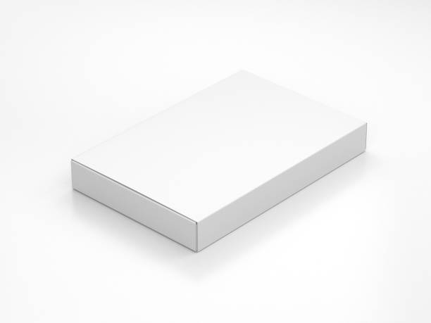 vit smal box förpackningar mockup i ljus studio - remmar godis bildbanksfoton och bilder