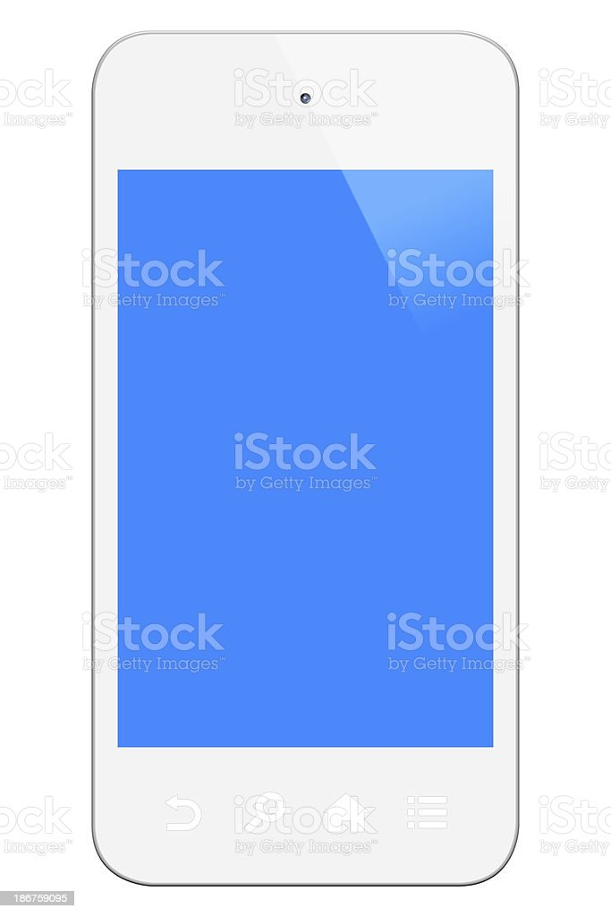 White Smart Phone (Clipping Path) royalty-free stock photo