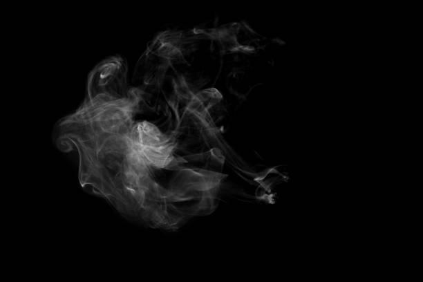 vit rök isolerad på svart bakgrund. rök lager bild - dimma png bildbanksfoton och bilder