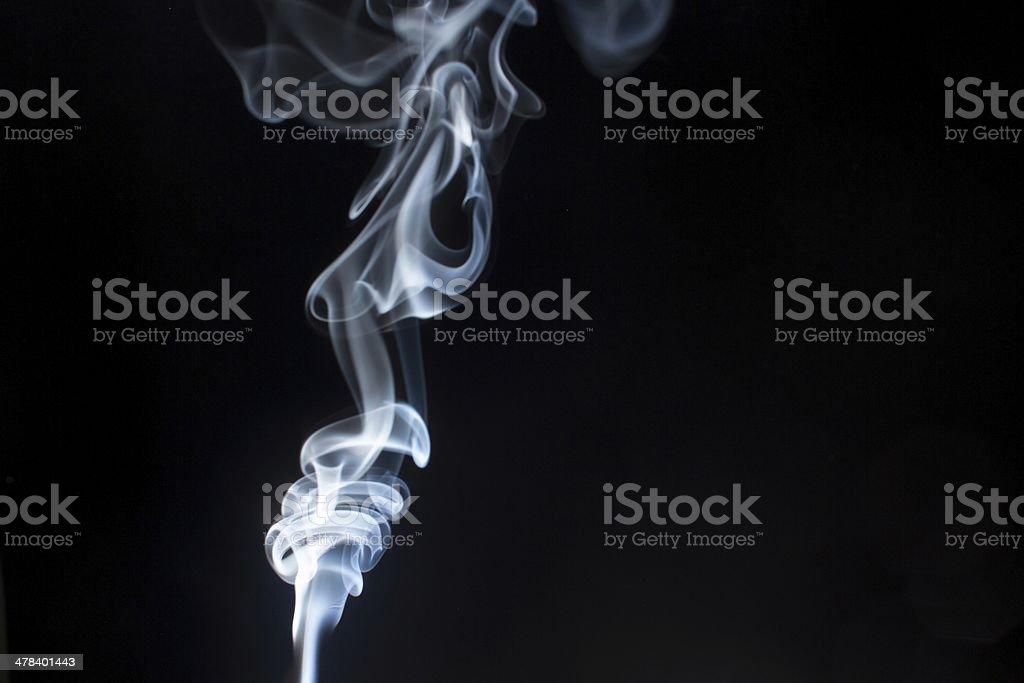 white smoke low-key 2 stock photo