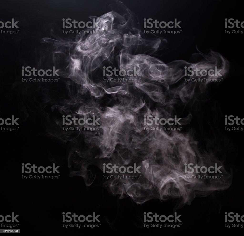White smoke of vapor electronic cigarette stock photo