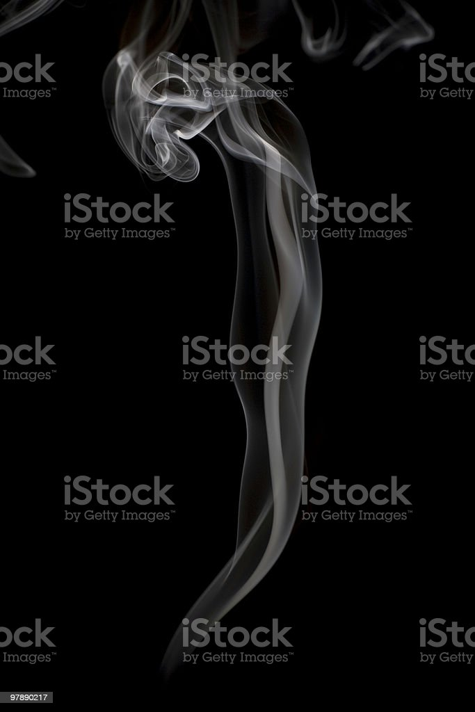 White Smoke on Black royalty-free stock photo