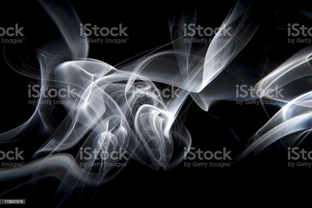 White Smoke Pattern royalty-free stock photo